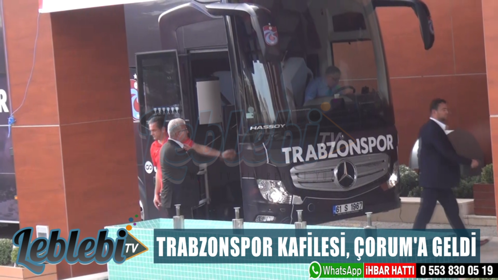 TRABZONSPOR KAFİLESİ, ÇORUM'A GELDİ