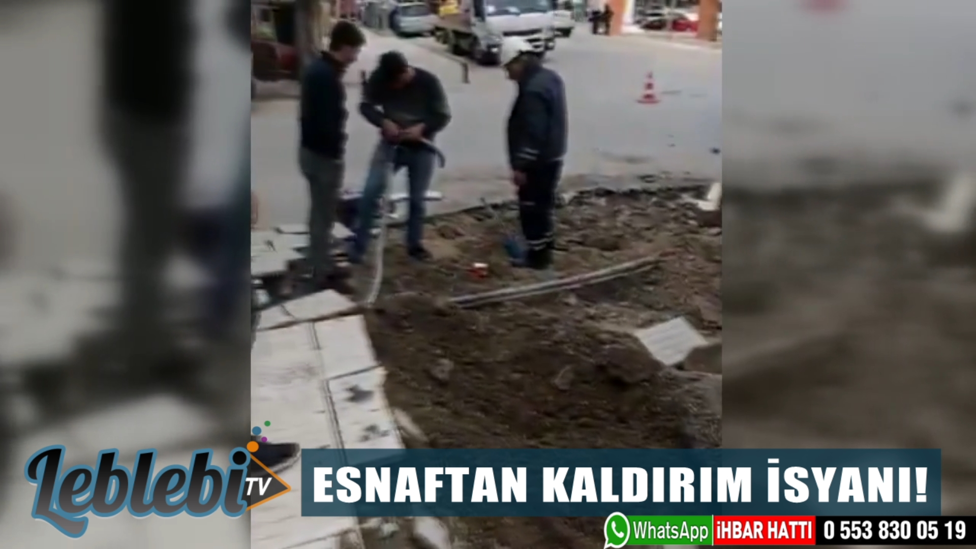 ESNAFTAN KALDIRIM İSYANI!
