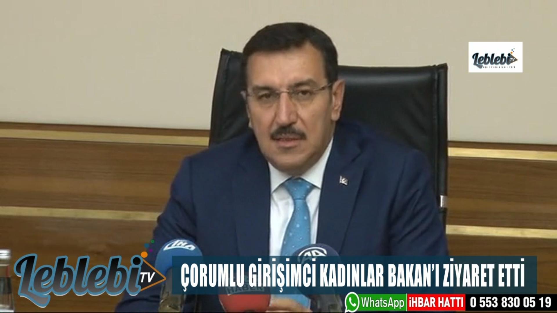 ÇORUMLU GİRİŞİMCİ KADINLAR BAKAN'I ZİYARET ETTİ