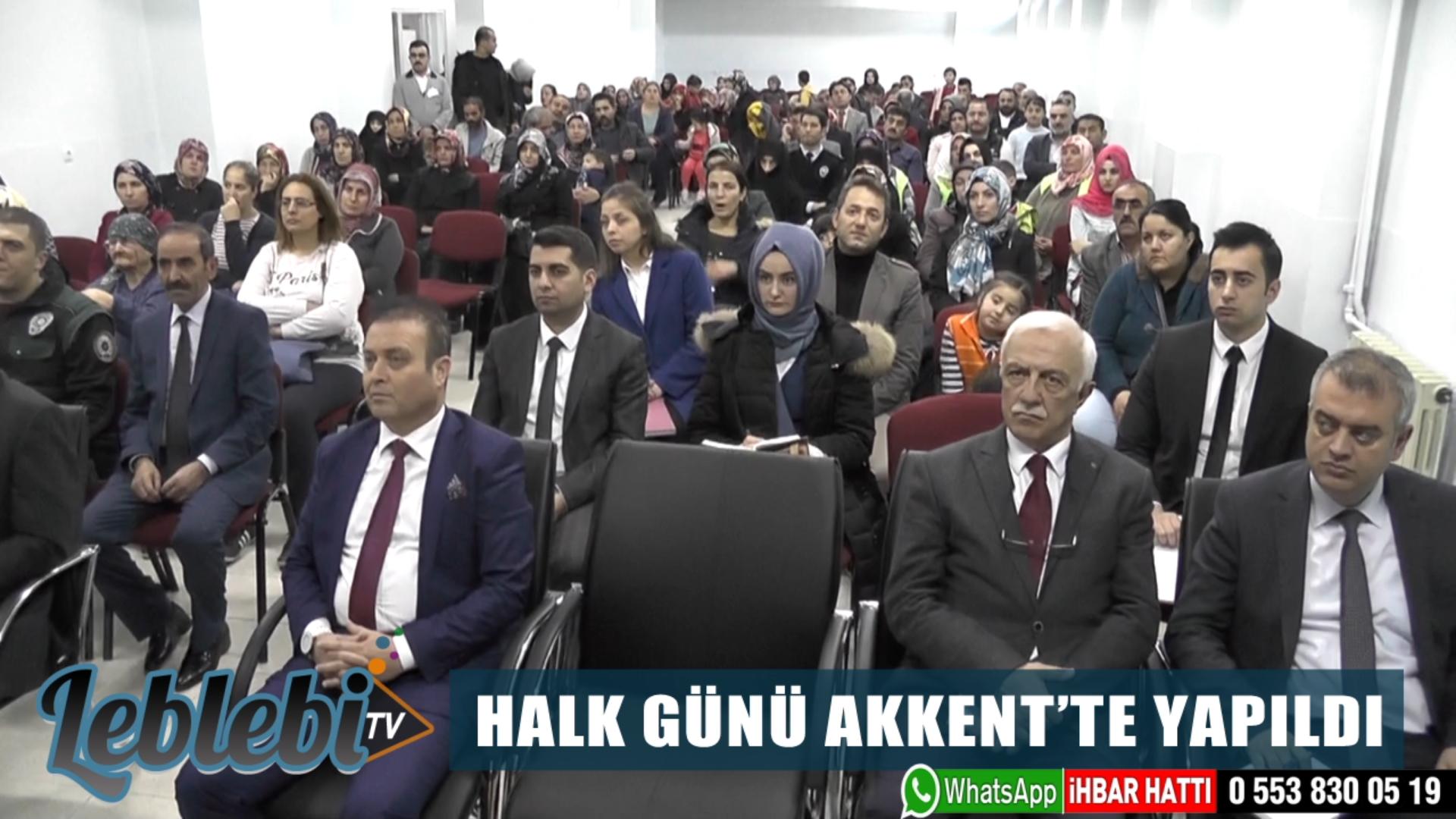 HALK GÜNÜ AKKENT'TE YAPILDI