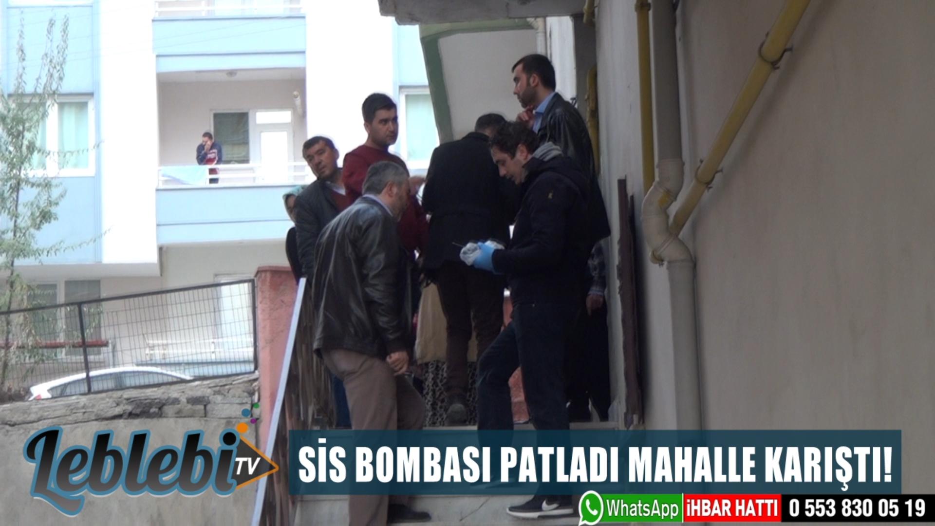 SİS BOMBASI PATLADI MAHALLE KARIŞTI!