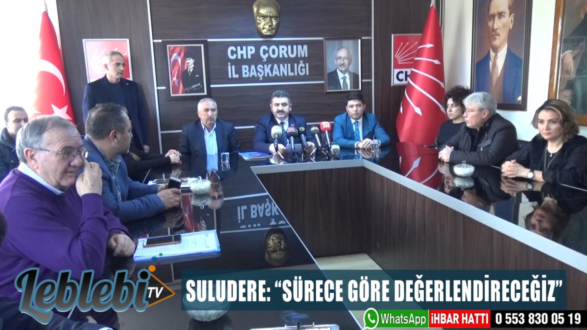 """SULUDERE: """"SÜRECE GÖRE DEĞERLENDİRECEĞİZ"""""""