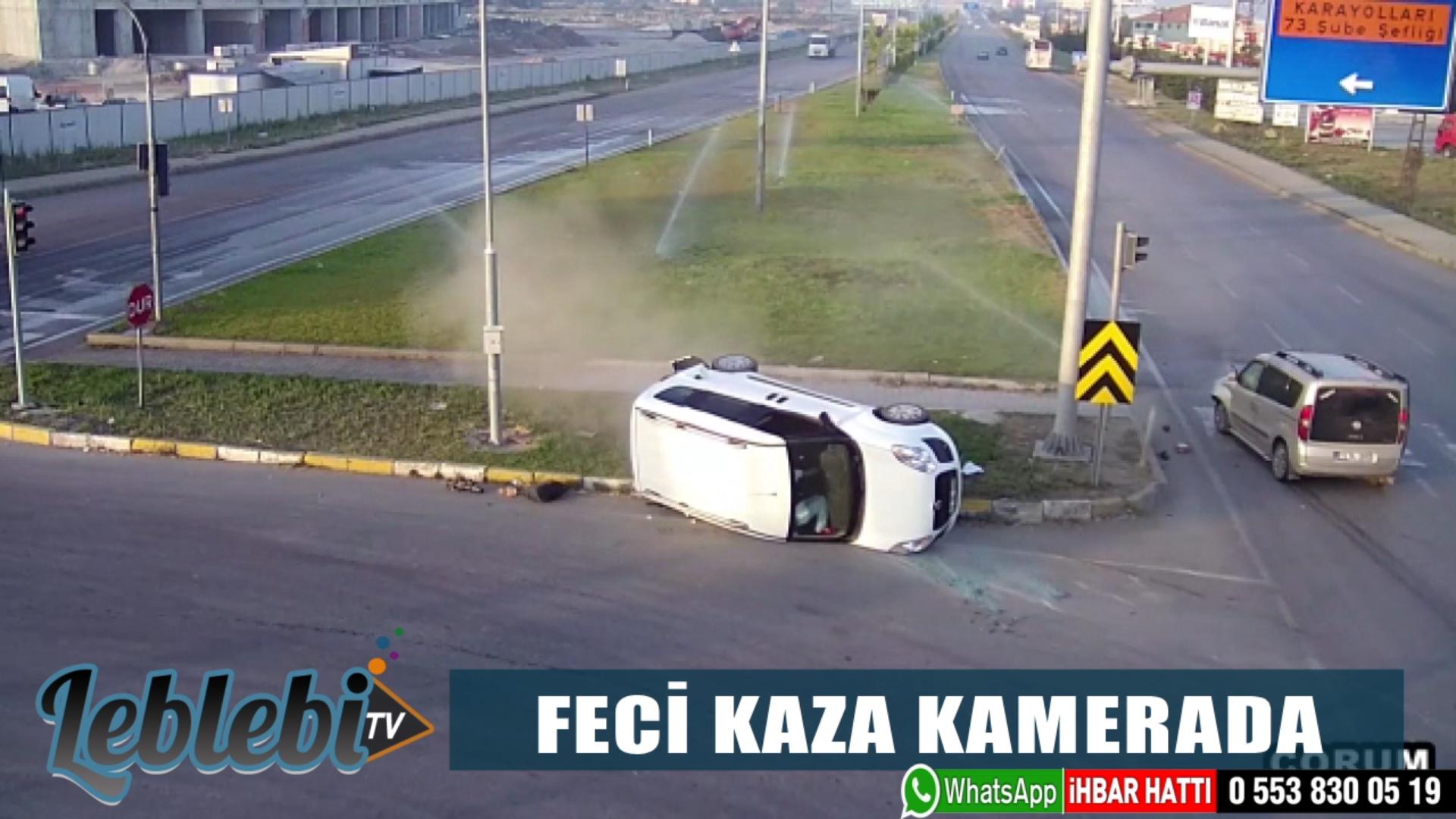 FECİ KAZA KAMERADA