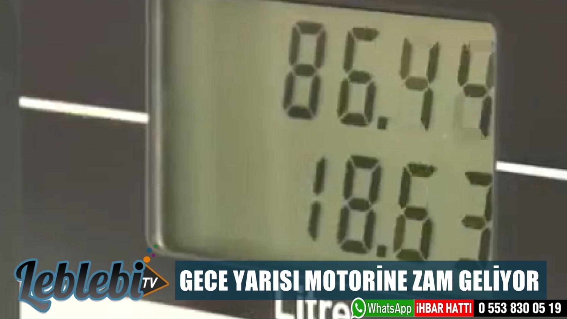GECE YARISI MOTORİNE ZAM GELİYOR