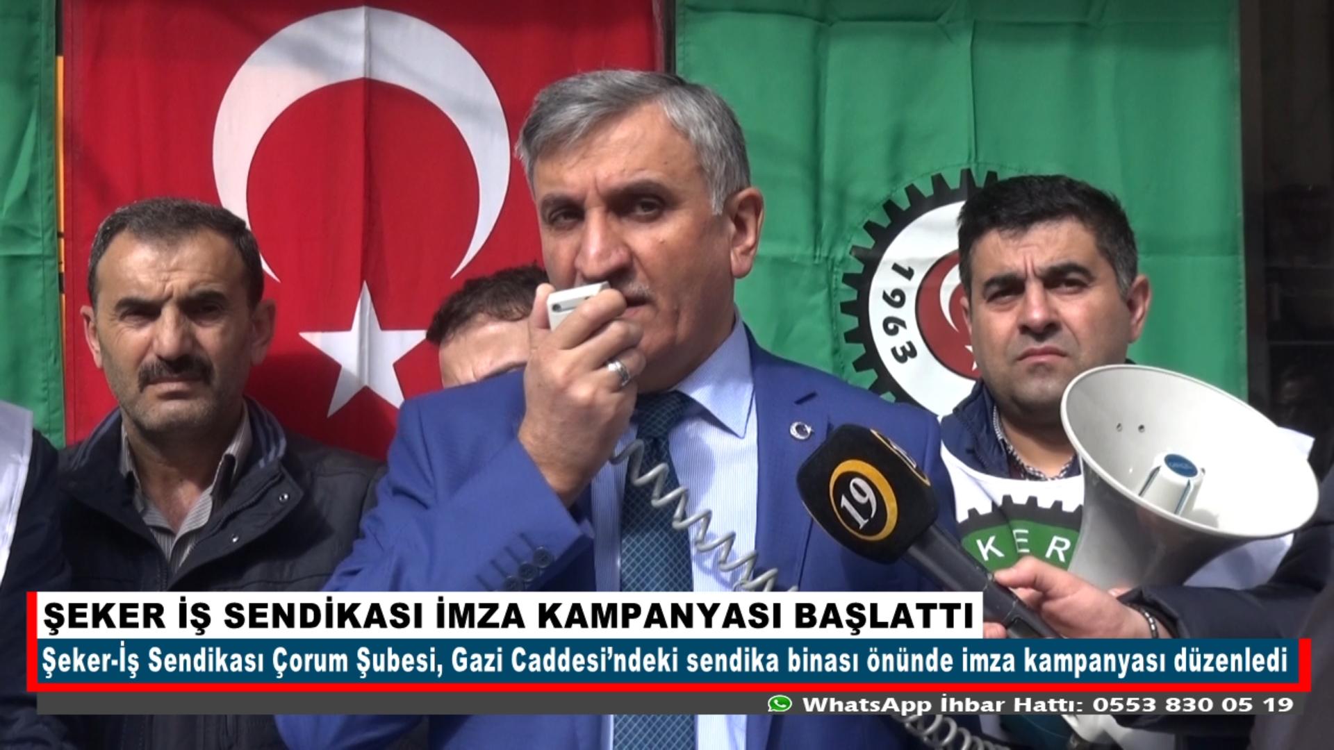 ŞEKER İŞ SENDİKASI İMZA KAMPANYASI BAŞLATTI