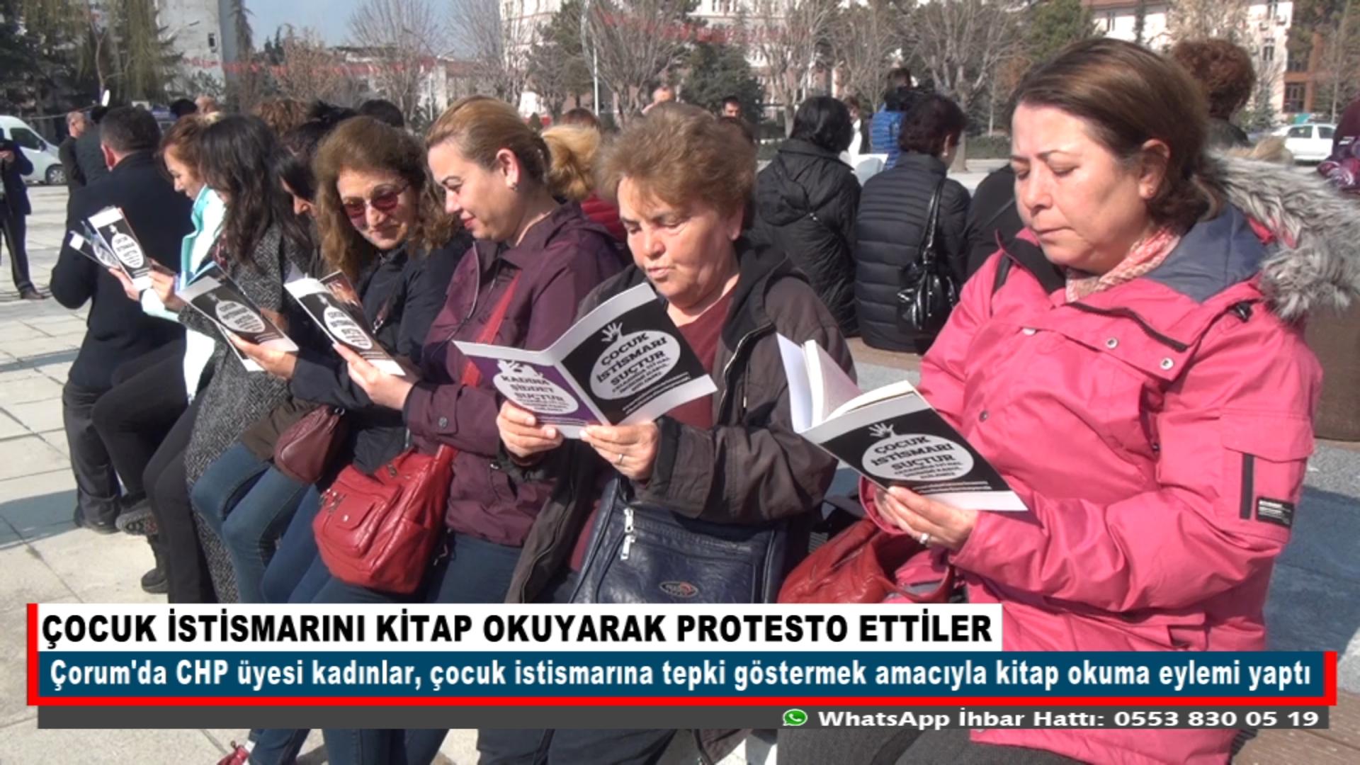 ÇOCUK İSTİSMARINI KİTAP OKUYARAK PROTESTO ETTİLER