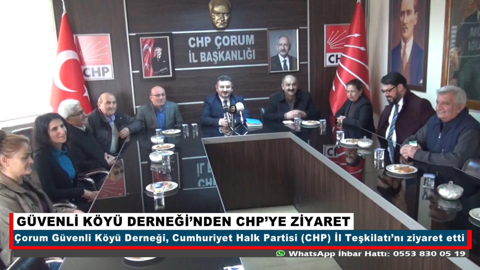 GÜVENLİ KÖYÜ DERNEĞİ'NDEN CHP'YE ZİYARET