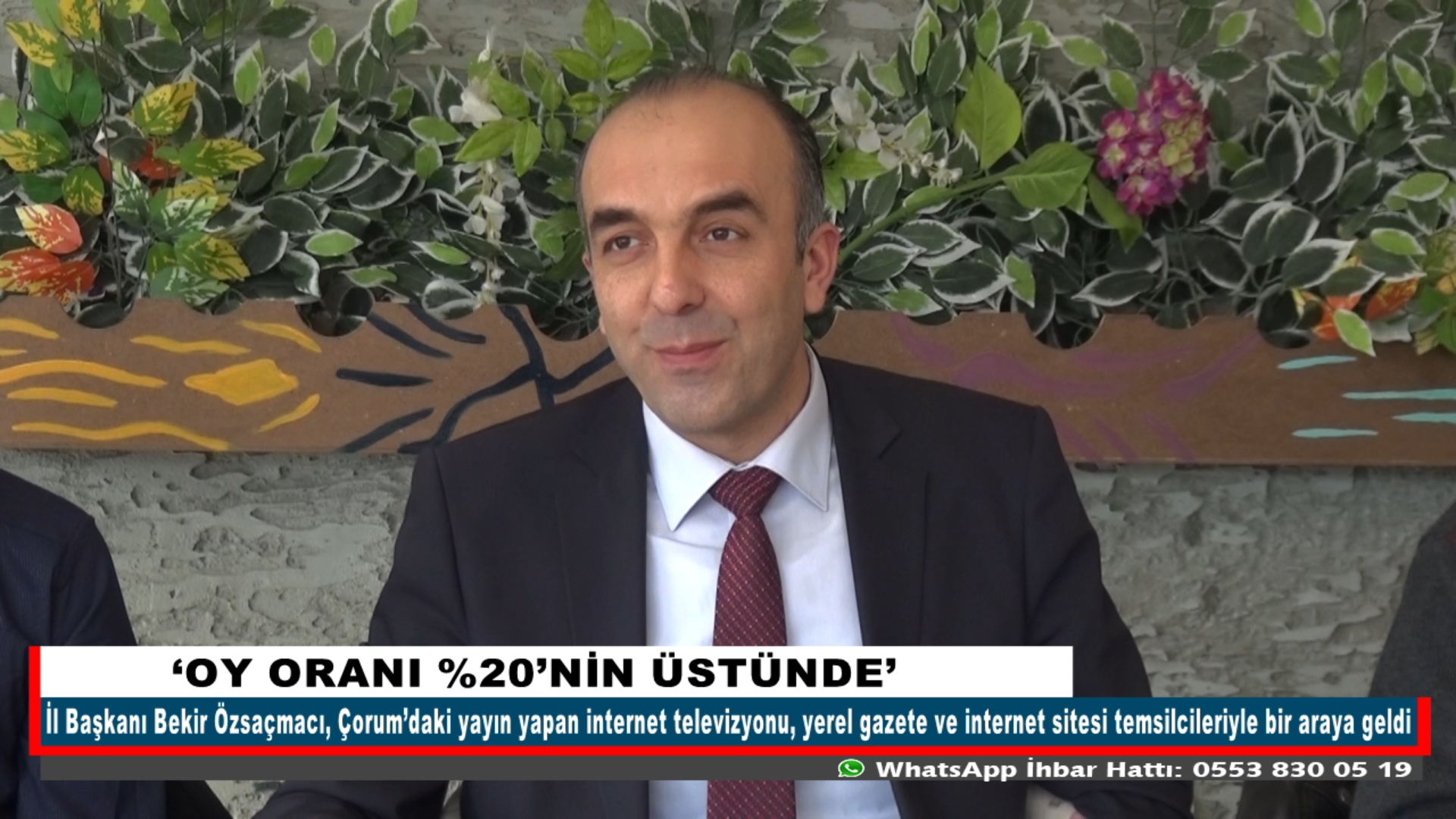 'OY ORANI %20'NİN ÜSTÜNDE'