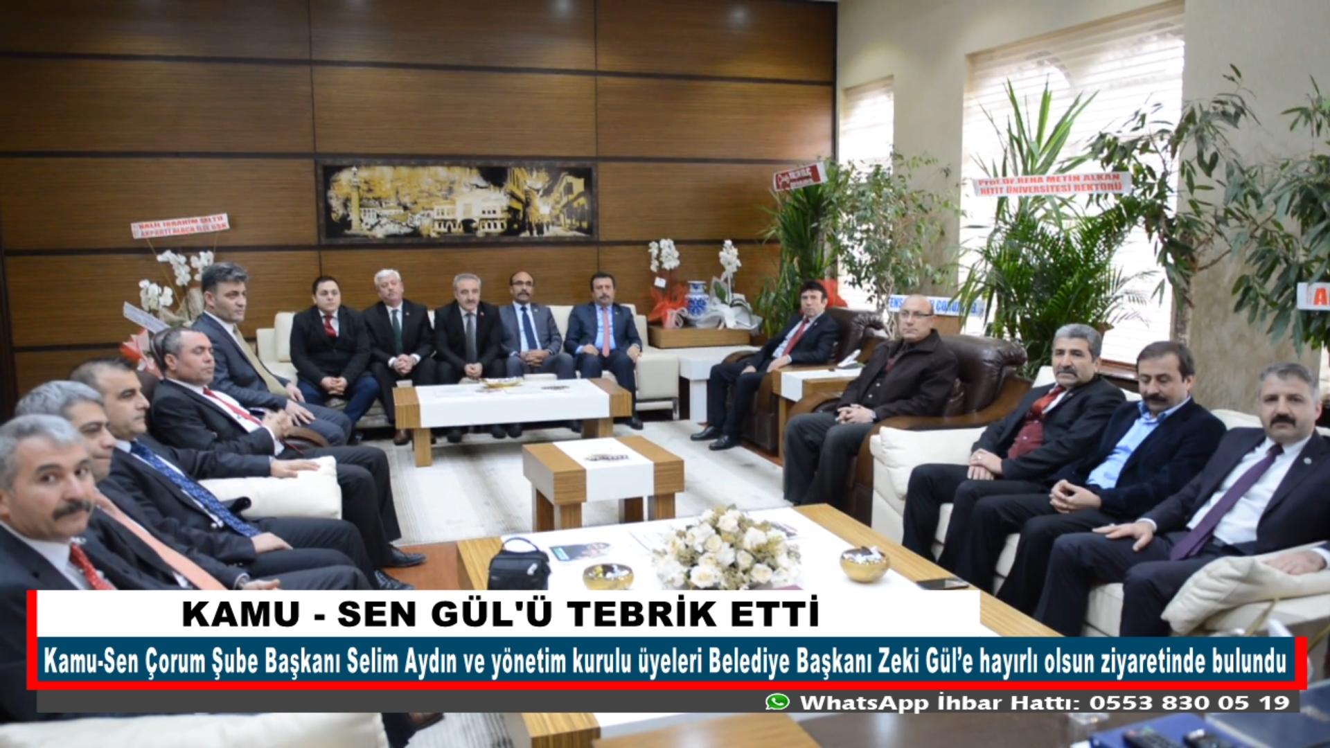 KAMU -SEN GÜL'Ü TEBRİK ETTİ