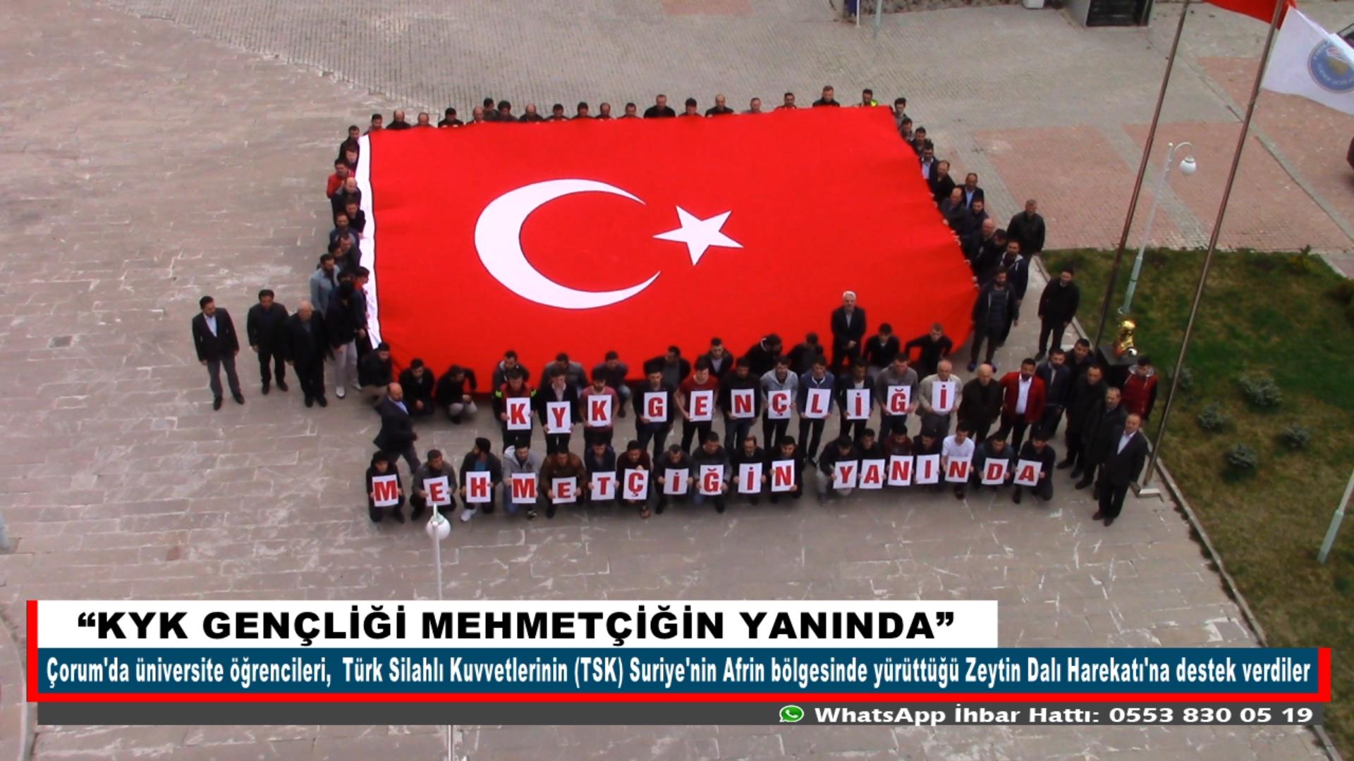 """""""KYK GENÇLİĞİ MEHMETÇİĞİN YANINDA"""""""