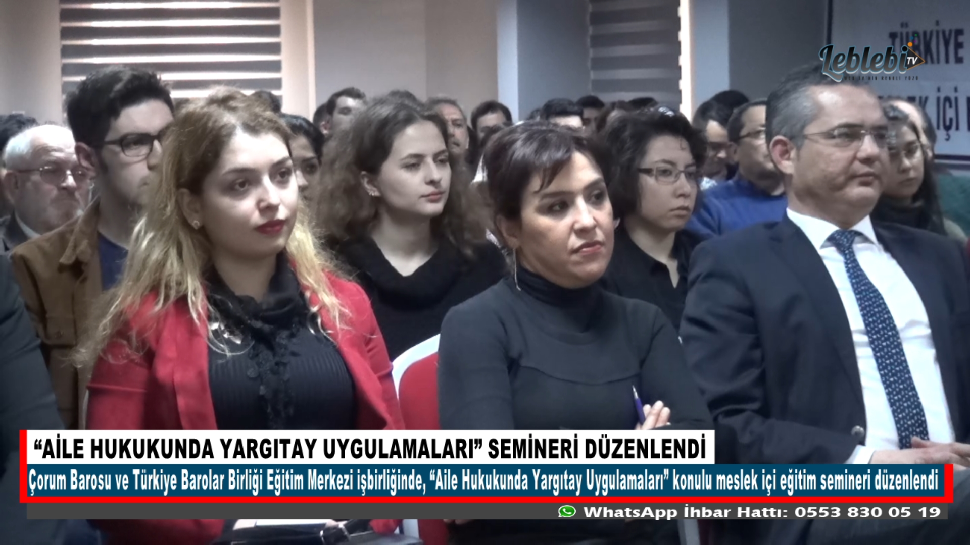"""AİLE HUKUKUNDA YARGITAY UYGULAMALARI"" SEMİNERİ DÜZENLENDİ"