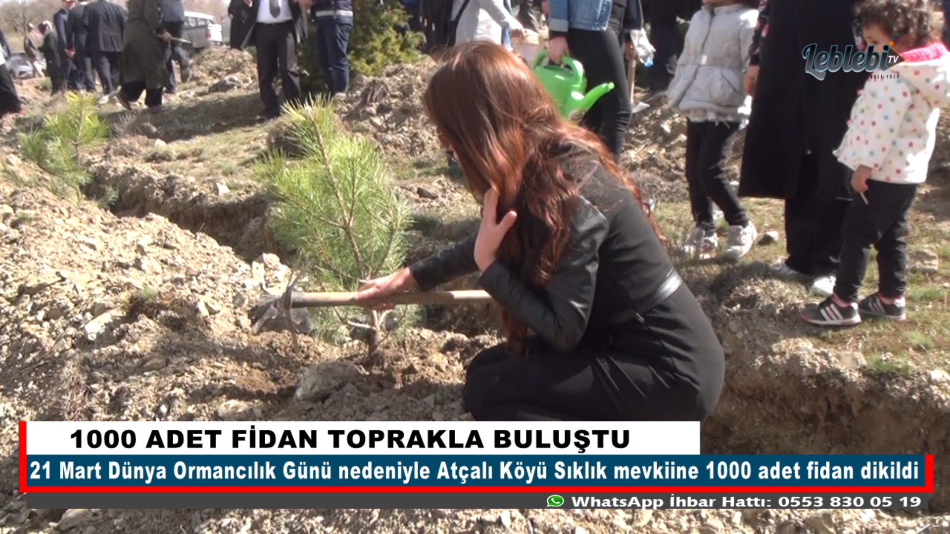 1000 ADET FİDAN TOPRAKLA BULUŞTU