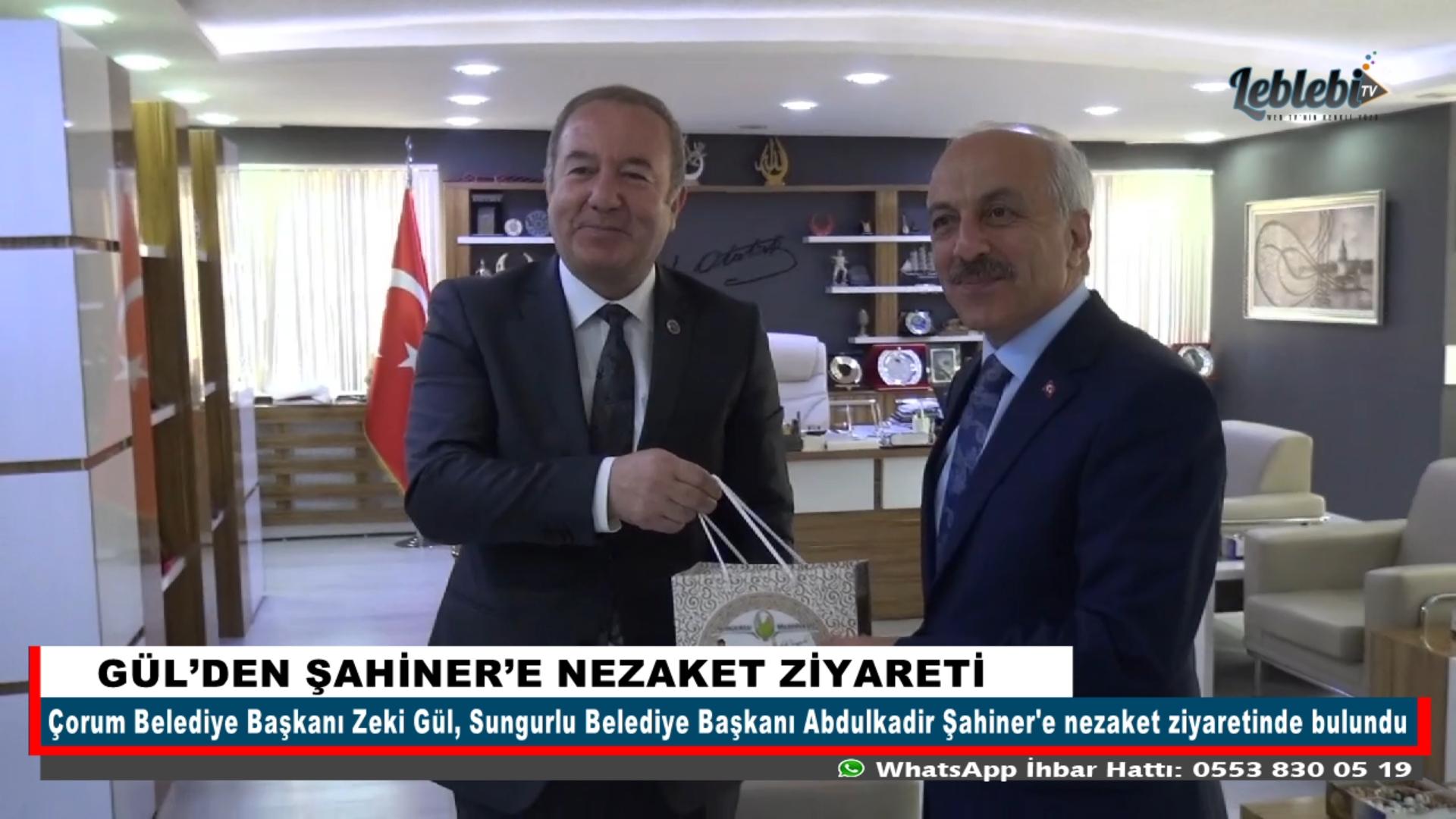GÜL'DEN ŞAHİNER'E NEZAKET ZİYARETİ