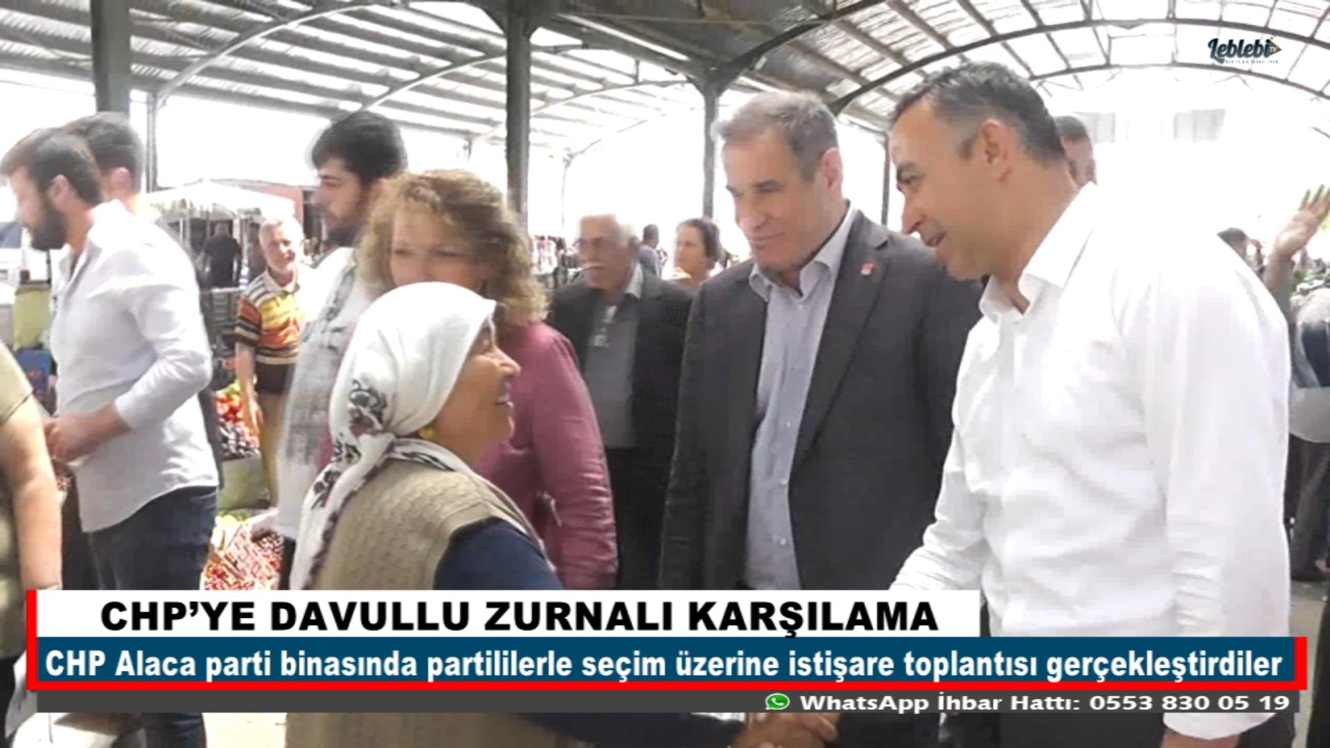 CHP'YE DAVULLU ZURNALI KARŞILAMA