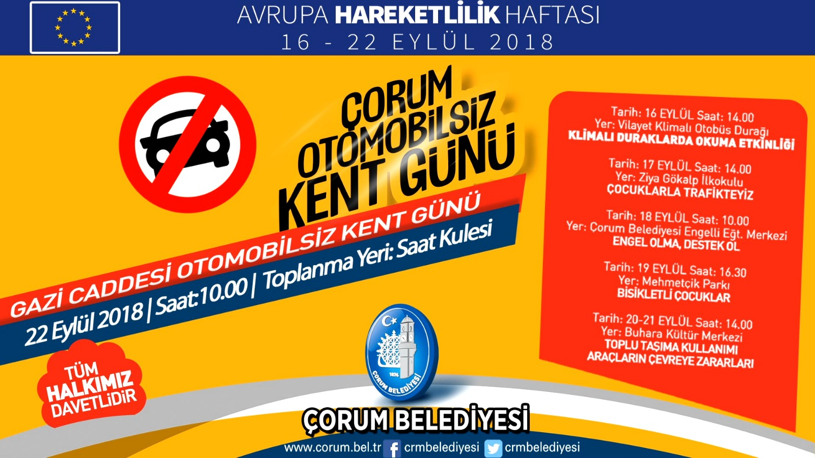 """CUMARTESİ, """"OTOMOBİLSİZ KENT"""" GÜNÜ"""