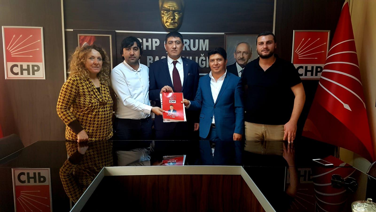 İLK BAŞVURU CHP'DEN