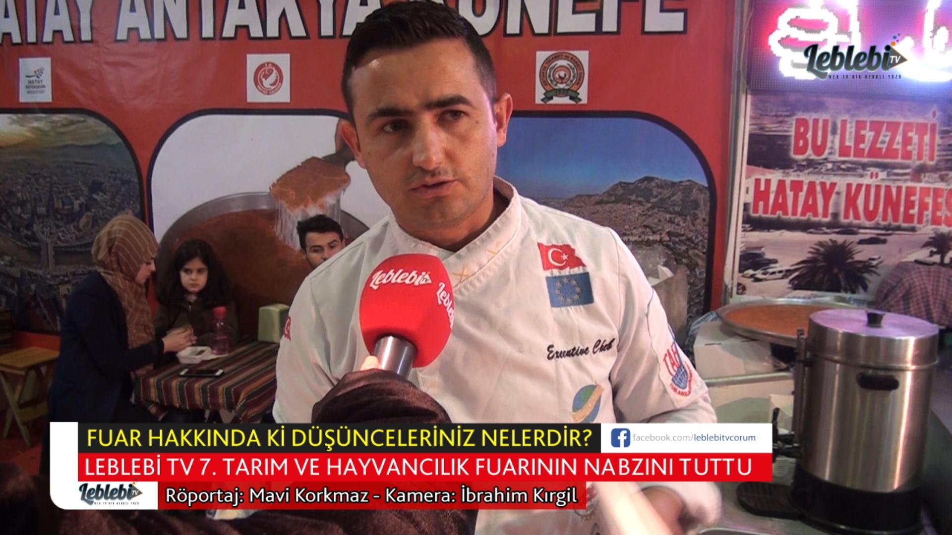 LEBLEBİ TV 7. TARIM VE HAYVANCILIK FUARININ NABZINI TUTTU
