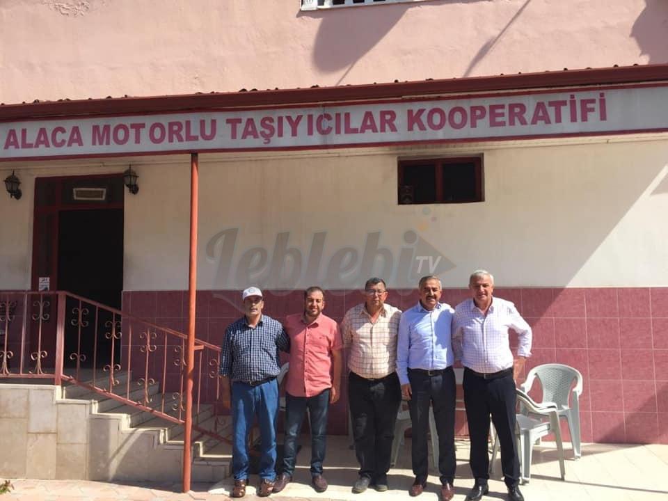 Halil İbrahim Şaltu'dan, Alaca Motorlu Taşıyıcılar Kooperatifine Ziyaret