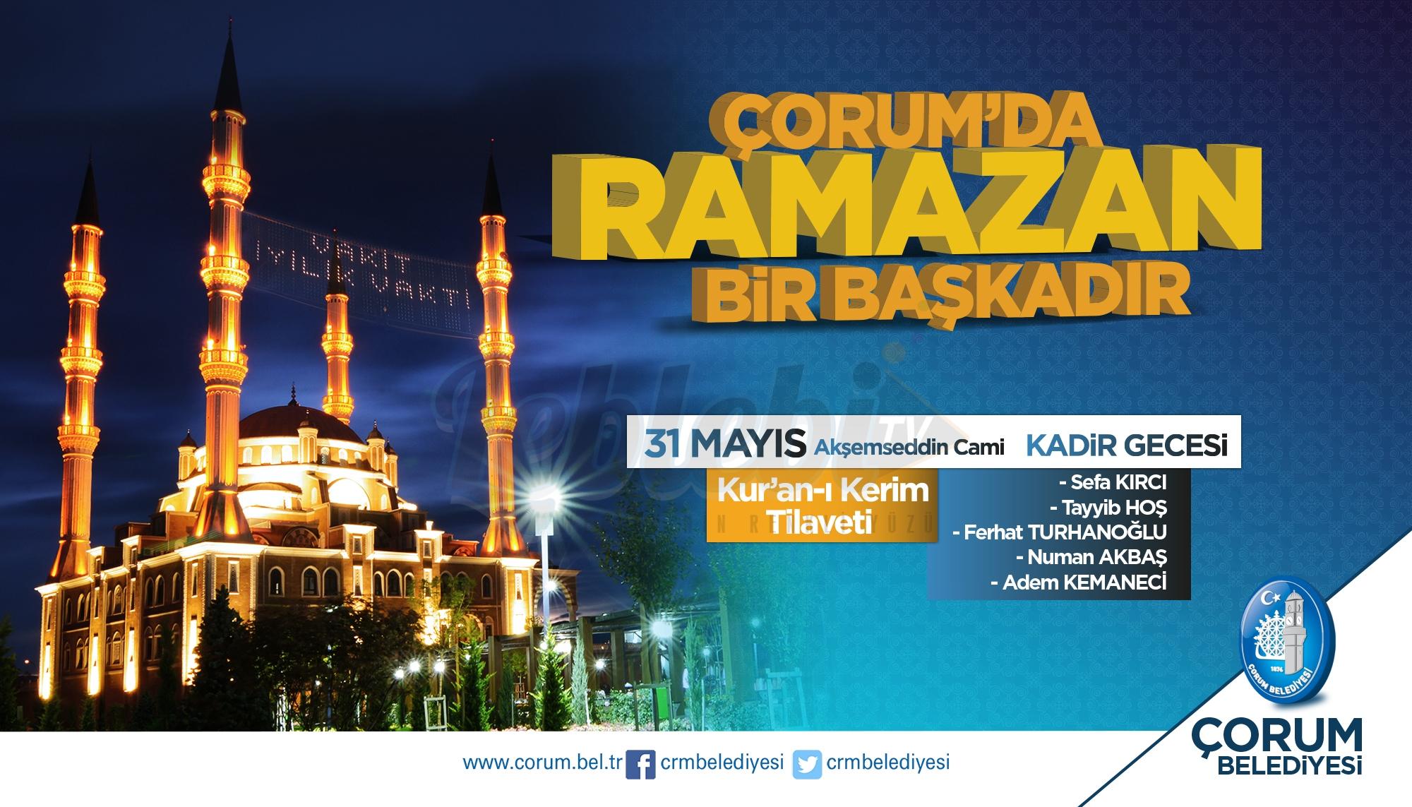 Kadir Gecesinde Akşemseddin Camisinde Kur'an Ziyafeti Çekilecek