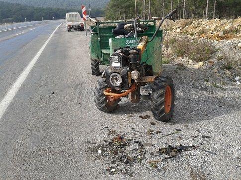 Frenleri Tutmayan Çapa Motoru Kaza Yaptı
