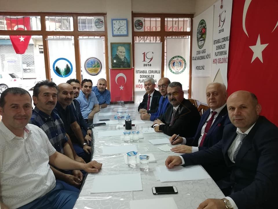 Ak Parti Heyeti'nden Çorumlu Dernekler Federasyonu'na Ziyaret