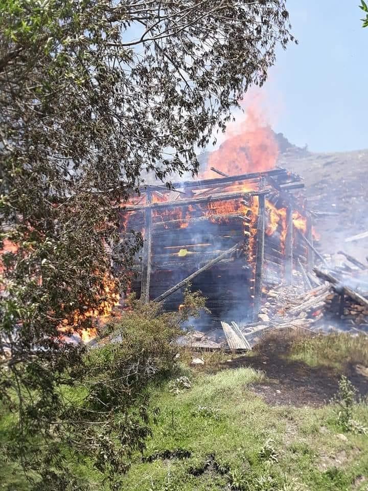 Kargı'da Köy Yangını, Ekipler Müdahale Ediyor