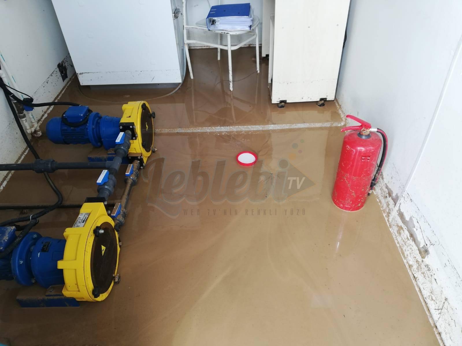 Arıtma Tesisini Sel Bastı