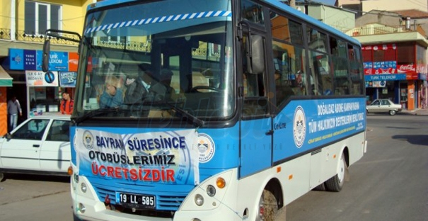 Alaca'da Bayramda Otobüsler Ücretsiz Olacak
