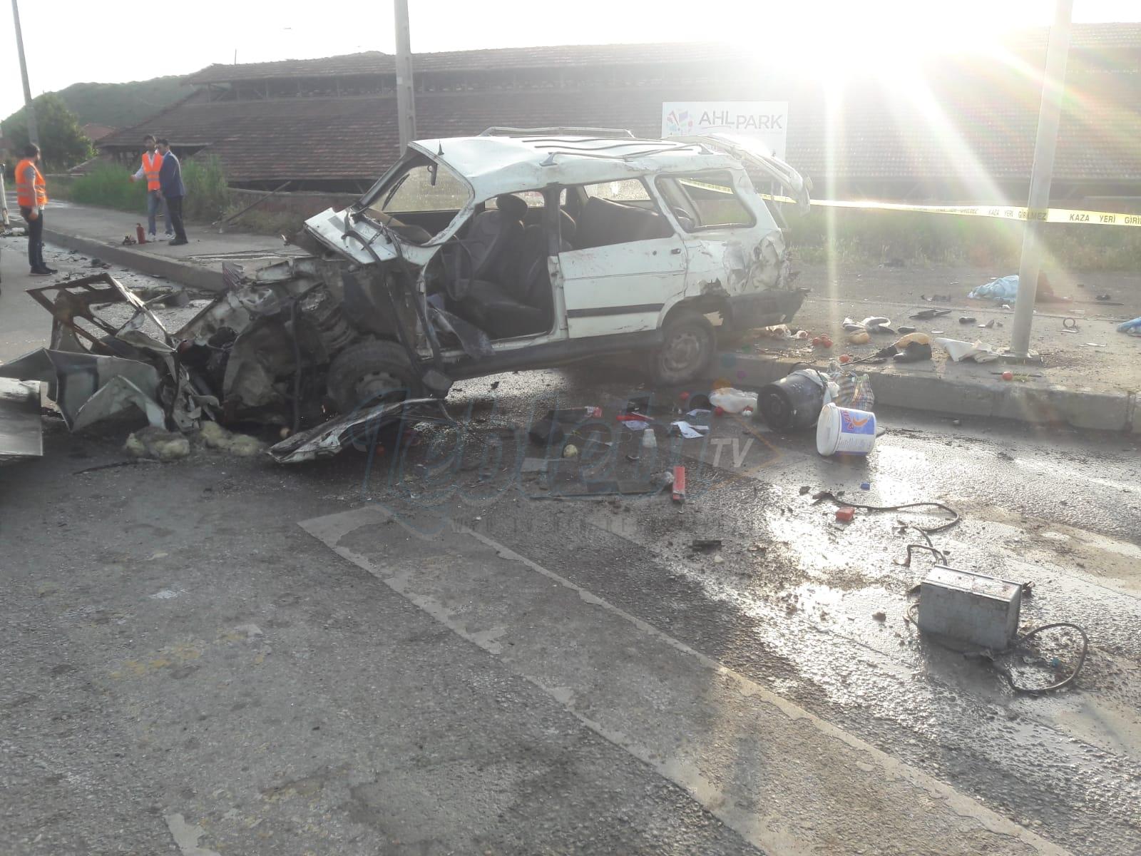 İskilip Kavşağında Feci Kaza: 1 Ölü 1 Ağır Yaralı