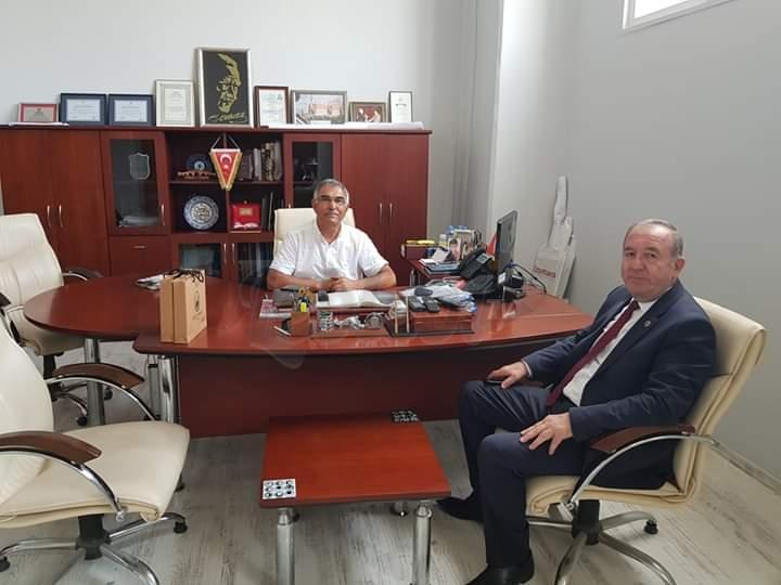Başkan Şahiner, İş Adamı Nazım Bekmezci'yi Ziyaret Etti
