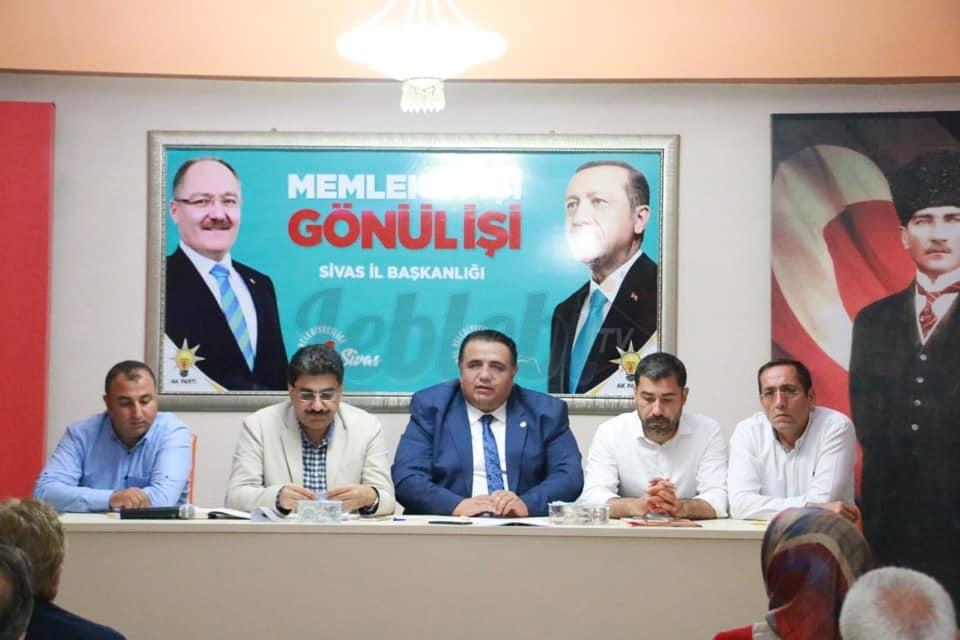 Ak Parti Milletvekili Kaya, Sivas'taki Teşkilat Toplantısına Katıldı