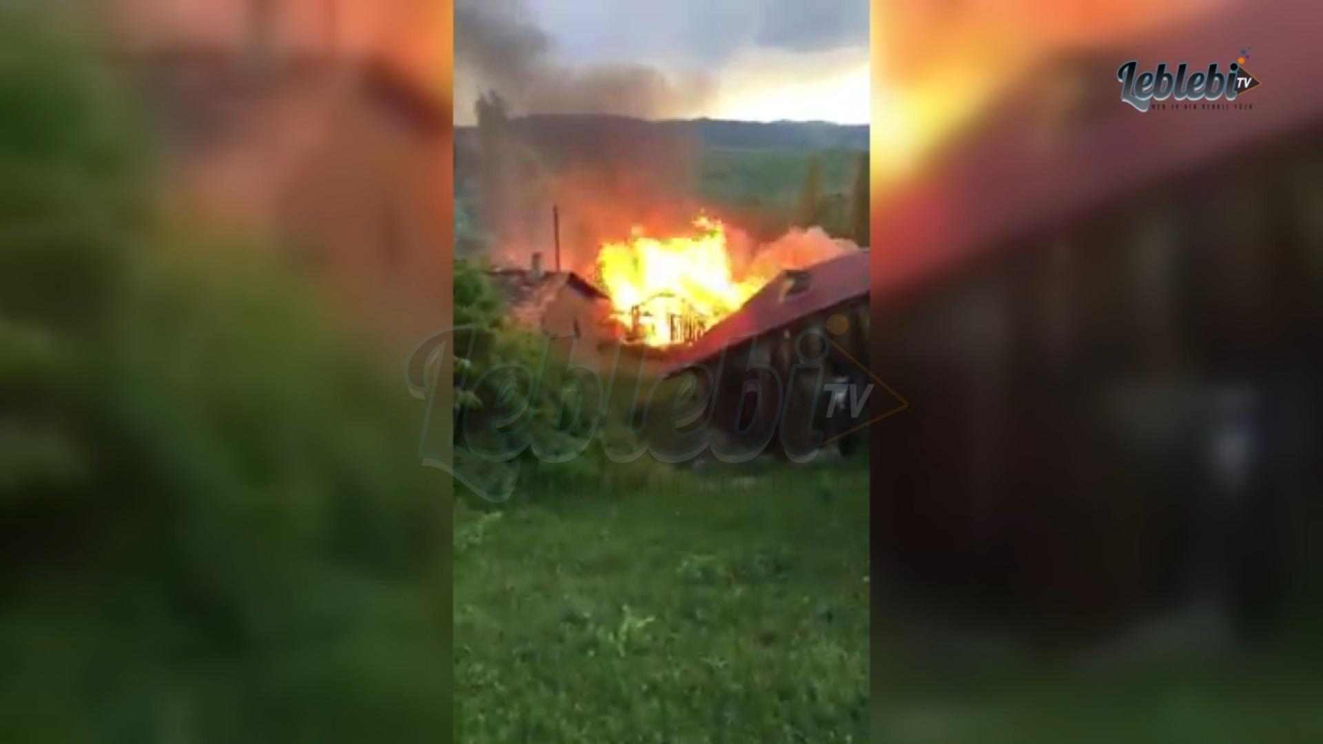Sarıkavak Köyü'nde Yangın, İtfaiye Ekipleri Çıkış Yaptı