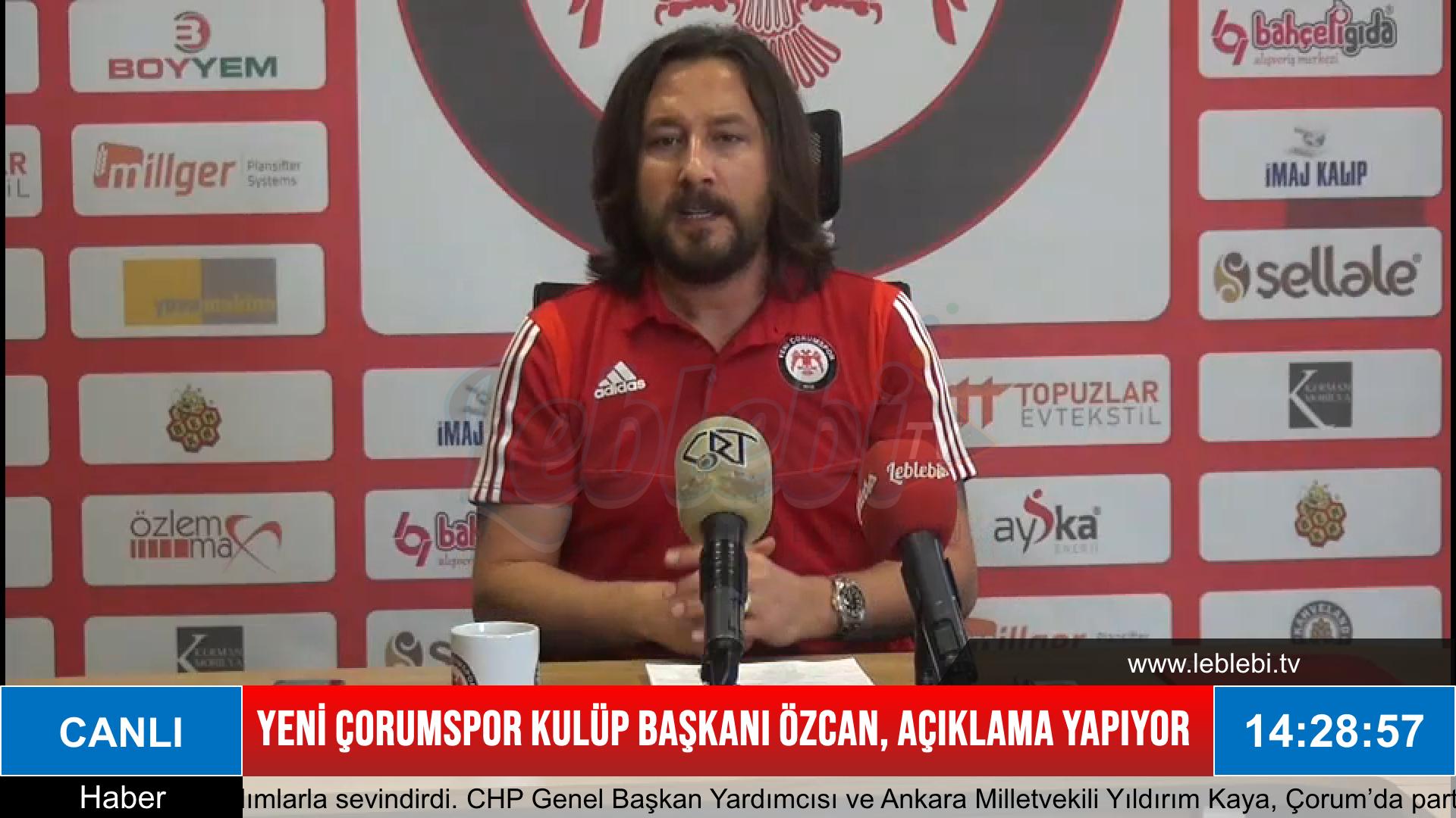 Yeni Çorumspor Kulüp Başkanı Fatih Özcan'dan Açıklamalar