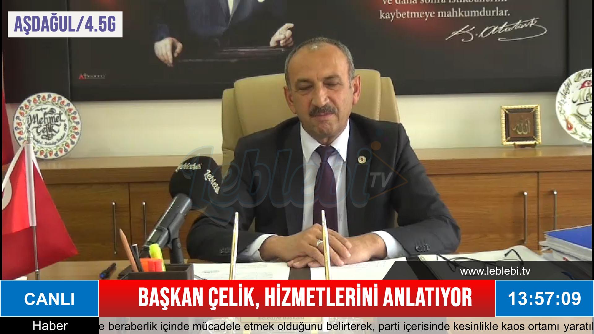 Aşdağul Belediye Başkanı Mehmet Çelik, Hizmetlerini Leblebi Tv'de Değerlendirdi