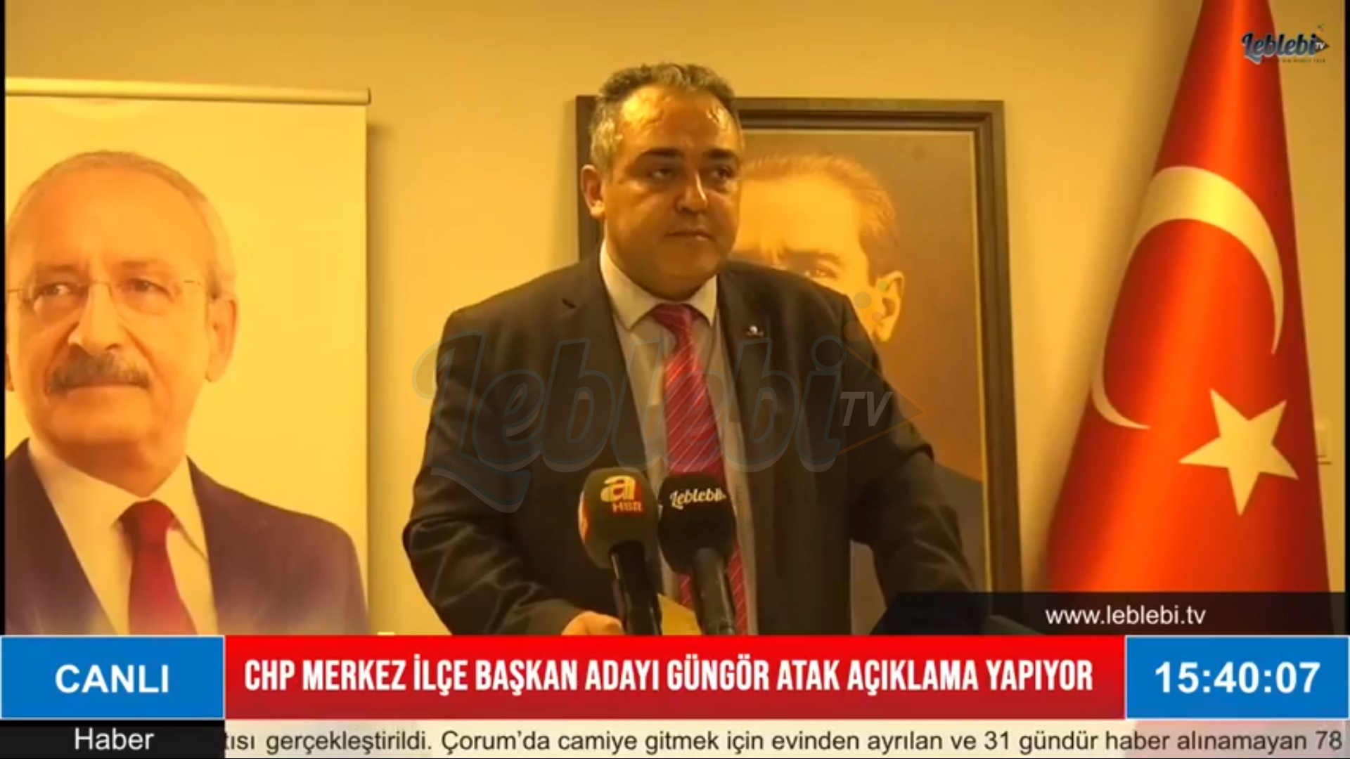 CHP Merkez İlçe Başkan Adayı Güngör Atak Basın Açıklaması
