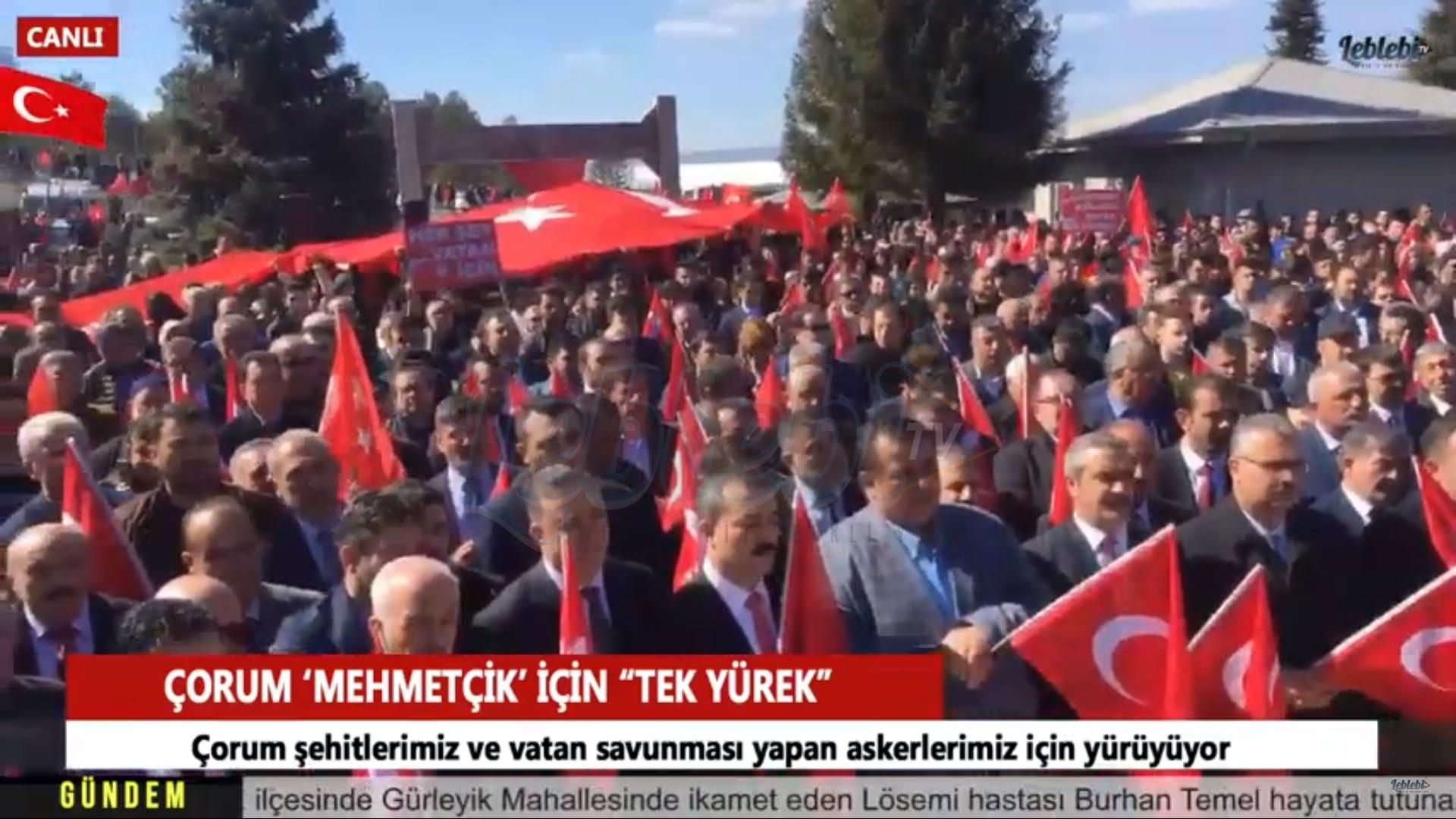 """Çorum 'Mehmetçik' İçin """"Tek Yürek"""""""