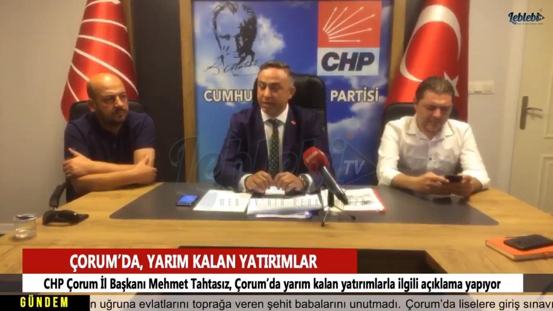 CHP Yarım Kalan Projelerin Tamamlanması İçin Çağrıda Bulundu