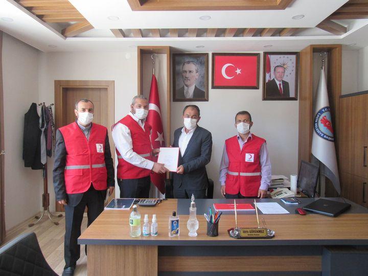 Kızılay'dan Başkan Görükmez'e Ziyaret