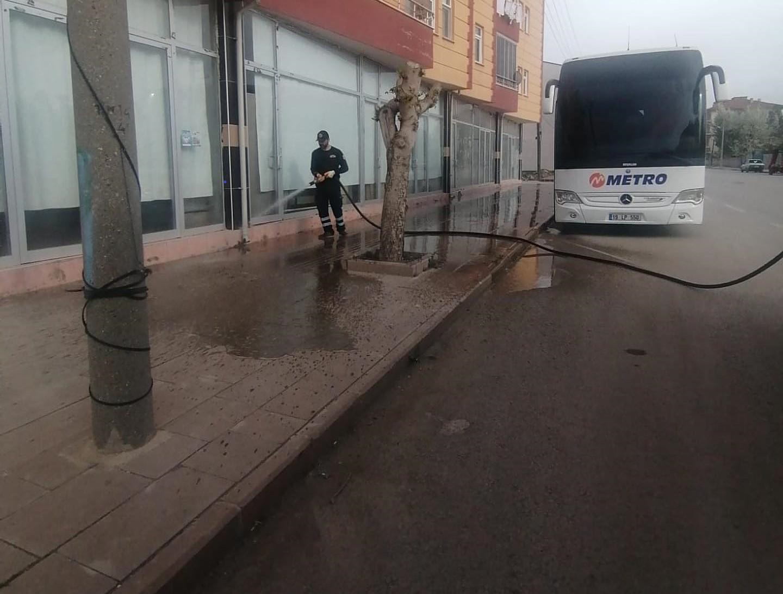 Alaca'da Cadde ve Meydanlar Temizleniyor