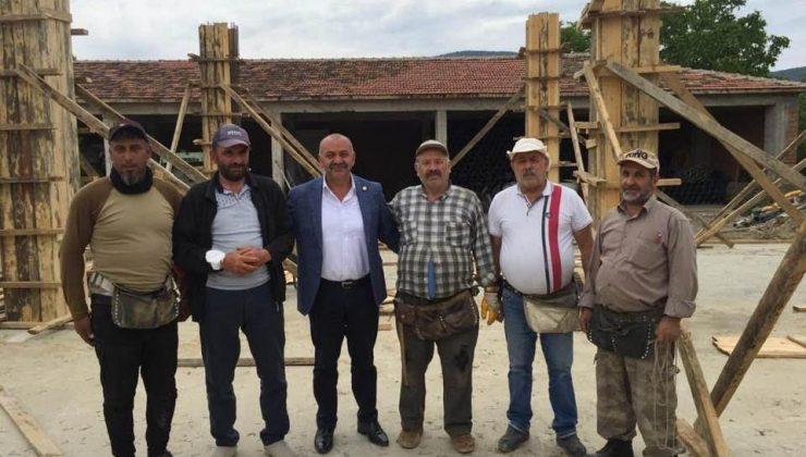 Başkan İsbir Tekstil Atölyesinin İnşaatını İnceledi