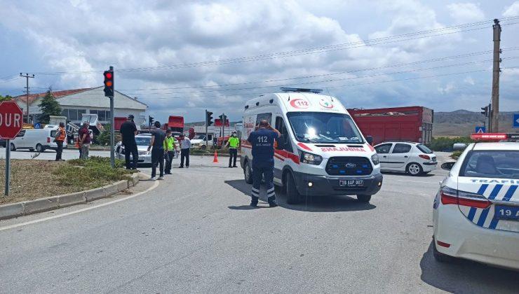 İki Otomobil Birbirine Girdi: 2 Yaralı