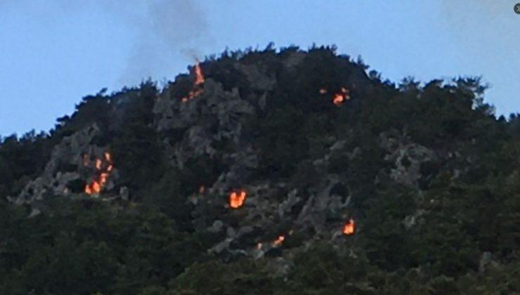 Marmaris'teki Yangında Sabotaj İddialarını Güçlendiren Fotoğraf