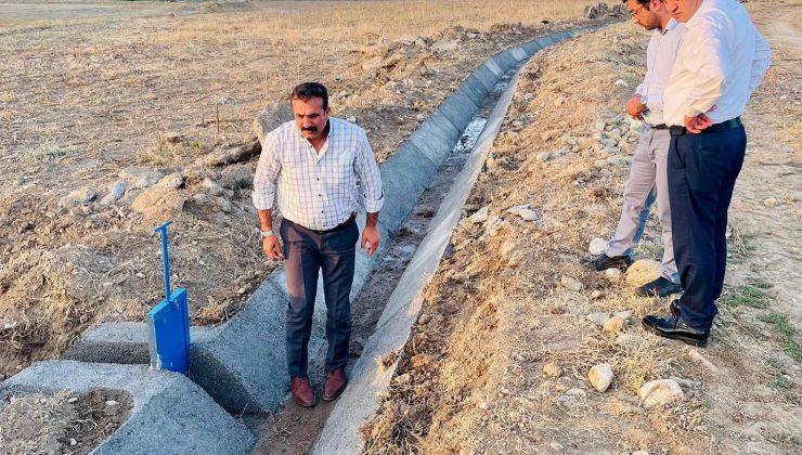 Uğurludağ'da Sulama Kanalları Yenileniyor