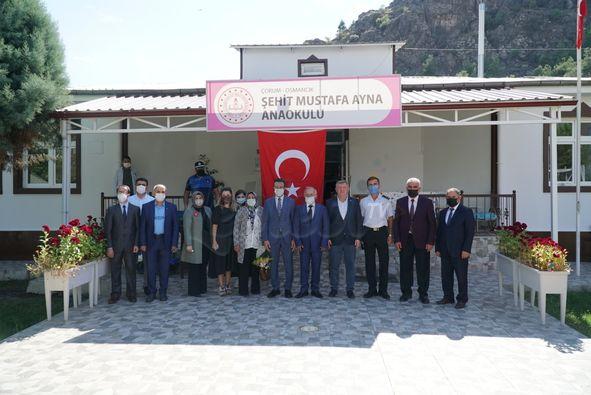 Şehit Mustafa Ayna'nın İsmi Osmancıkta Bir Anaokuluna Verildi