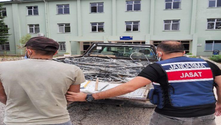 Organize'den 500 Kilo Kablo Çalan Hırsız Yakalandı