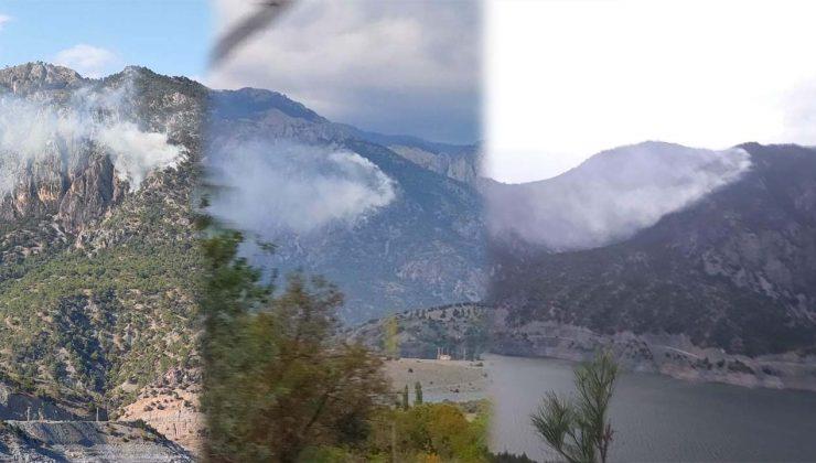Kargı'da Ormanlık Alanda Çıkan Yangın, Yağış Sonucu Etkisini Kaybetti
