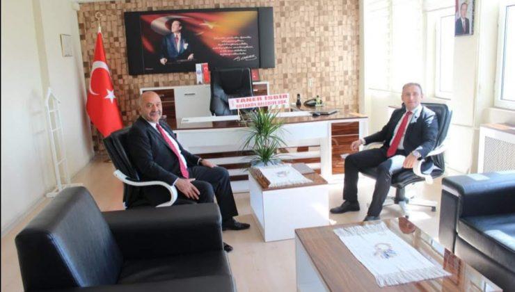 Başkan İsbir'den Kaymakam Mutlu'ya ziyaret