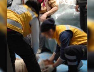 Gölet İnşaatında Çalışan İşçi 5 Metre Yüksekten Düşerek Yaralandı
